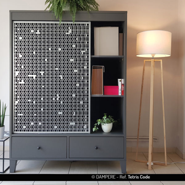 Tole perforee decorative TETRIS COD par Dampere